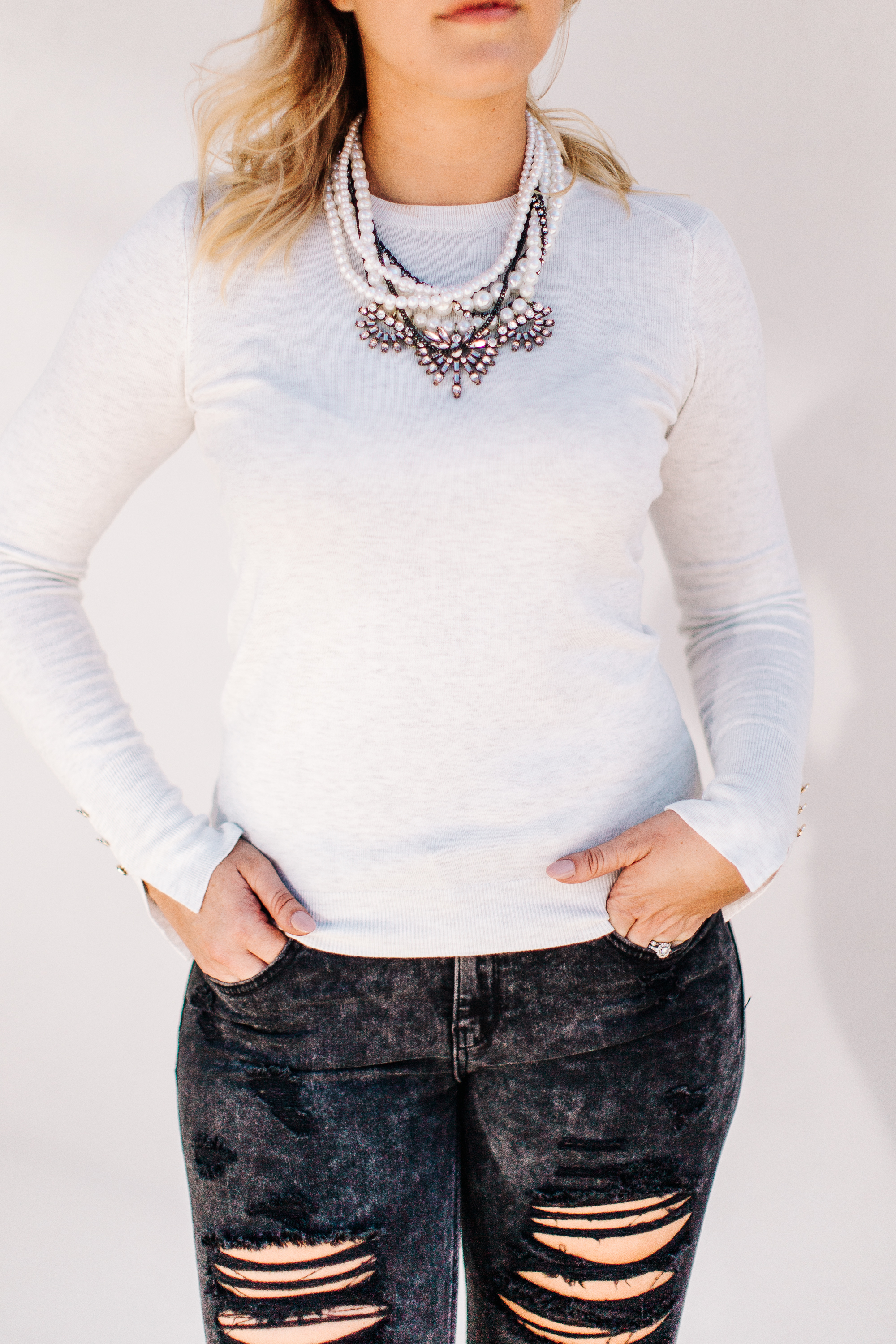 distressed denim and pearl necklace.jpg