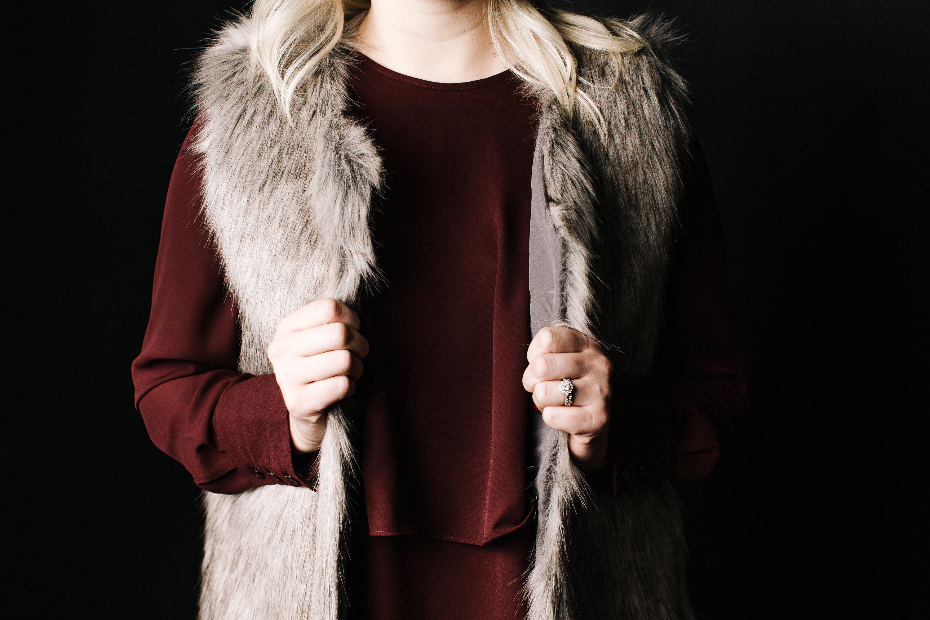 dress-and-fur-vest-detail